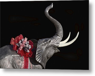 Dressed Up Like Bear Bryant For Christmas Metal Print by Kathy Clark