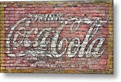 Drink Coca Cola Metal Print by Olivier Le Queinec