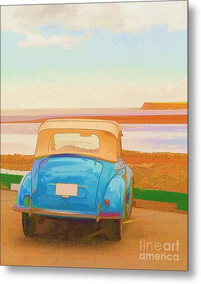 Drive To The Shore Metal Print by Edward Fielding