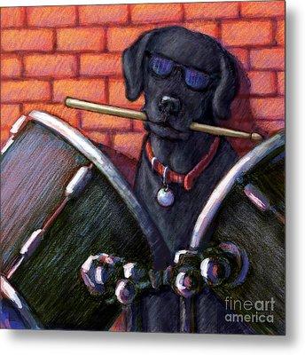 Drum Roll - Black Metal Print by Kathleen Harte Gilsenan