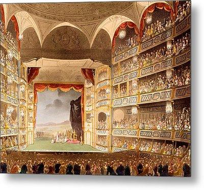 Drury Lane Theatre, Illustration Metal Print by T. & Pugin, A.C. Rowlandson