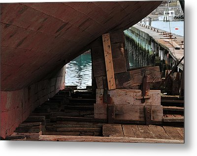 Dry-dock Metal Print by Mike Martin