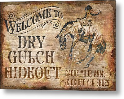 Dry Gulch Hideout Metal Print by JQ Licensing