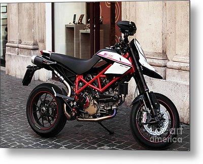 Ducati Motor Cross Metal Print by John Rizzuto