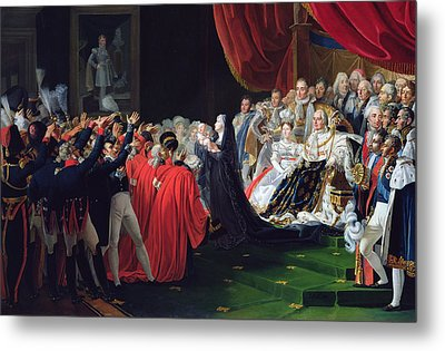 Duchess Of Berry Presenting The Duke Of Bordeaux To The People And The Army Metal Print by Charles Nicolas Raphael Lafond