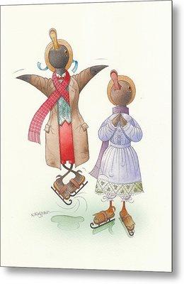Ducks On Skates 06 Metal Print by Kestutis Kasparavicius
