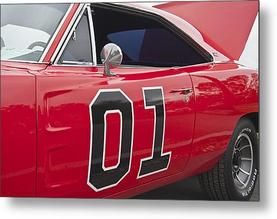 Dukes Of Hazard General Lee Metal Print by Glenn Gordon