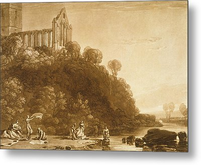 Dunblane Abbey Metal Print by Joseph Mallord William Turner