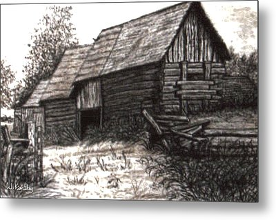 Dunchurch Farm Metal Print by Wanda Kightley