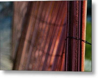 Dune Fence Metal Print by Laura Fasulo