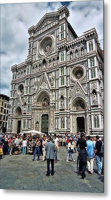 Duomo Of Florence Metal Print by Allen Beatty