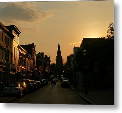 Dusk In Annapolis Metal Print by Jennifer Wheatley Wolf