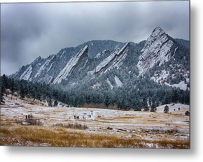 Dusted Flatirons Chautauqua Park Boulder Colorado Metal Print by James BO  Insogna