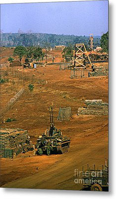 Duster Of 4/60th Artillery At  Lz Oasis Vietnam 1969 Metal Print by California Views Mr Pat Hathaway Archives