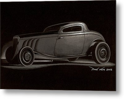 Dusty Ford Coupe Metal Print by Paul Kim