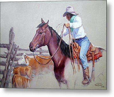 Dusty Work Metal Print by Randy Follis