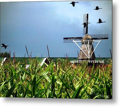 Dutch Windmill In Summer Metal Print by Yvon van der Wijk