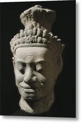 Dvarapala. End 12th-beg. 13th C. Bayon Metal Print by Everett