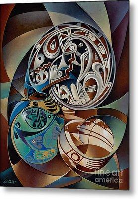 Dynamic Still Il Metal Print by Ricardo Chavez-Mendez