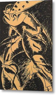 Dynamism Of A Human Body Metal Print by Umberto Boccioni