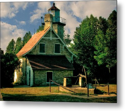 Eagle Bluff Light 2.0 Metal Print by Michelle Calkins
