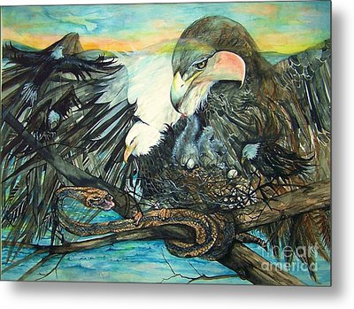 Eagles Nest Metal Print by Laneea Tolley