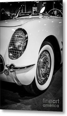 Early 1950's Chevrolet Corvette Metal Print by Paul Velgos