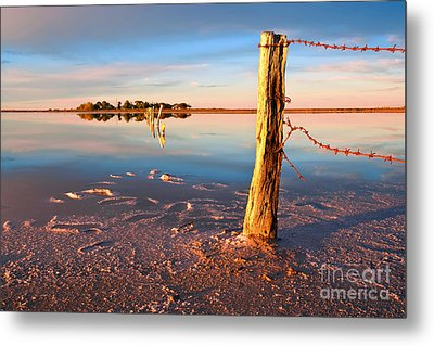 Early Morning Salt Pan Metal Print by Bill  Robinson