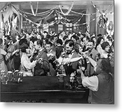Early Silent Movie Scene Metal Print by Underwood Archives