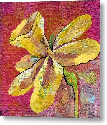 Early Spring II Daffodil Series Metal Print by Shadia Zayed