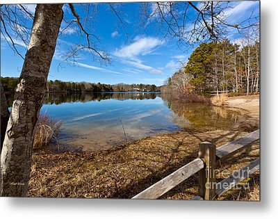 Early Spring On Long Pond Metal Print by Michelle Wiarda