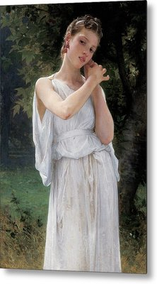 Earrings Metal Print by William Adolphe Bouguereau