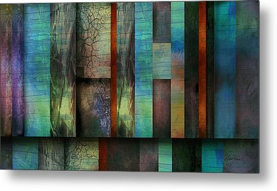 Earth And Sky  Abstract Art  Metal Print by Ann Powell