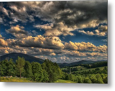 Earth Bending At Mt. Ascutney Metal Print by Nathan Larson