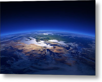 Earth - Mediterranean Countries Metal Print by Johan Swanepoel