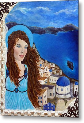 Earthangel Athena Metal Print by The Art With A Heart By Charlotte Phillips
