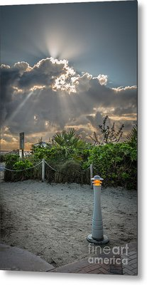 Earthly Light And Heavenly Light - Hdr Style Metal Print by Ian Monk