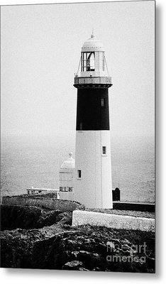 East Light Lighthouse Altacarry Altacorry Head Rathlin Island  Metal Print by Joe Fox