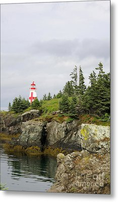 East Quoddy Lighthouse - Campobello Island Metal Print by Christiane Schulze Art And Photography