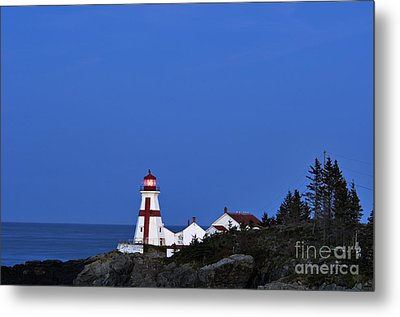 East Quoddy Lighthouse - D002160 Metal Print by Daniel Dempster