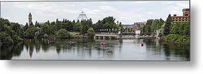East Riverfront Park And Dam - Spokane Washington Metal Print by Daniel Hagerman