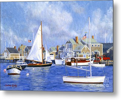 Easy Street Basin Blues Metal Print by Candace Lovely