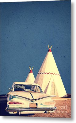 Eat And Sleep In A Wigwam Metal Print by Edward Fielding