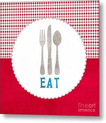 Eat Metal Print by Linda Woods
