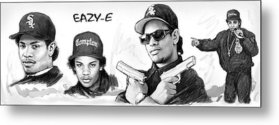 Eazy-e Art Drawing Sketch Poster Metal Print by Kim Wang