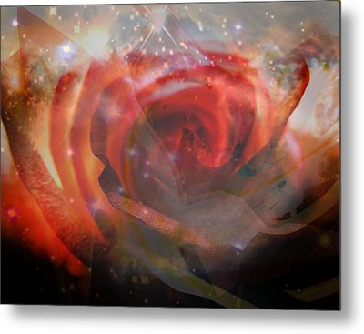 Echoes Of The Rose Metal Print by Judy Paleologos