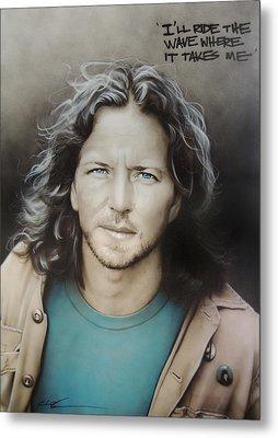 ' Eddie Vedder ' Metal Print by Christian Chapman Art