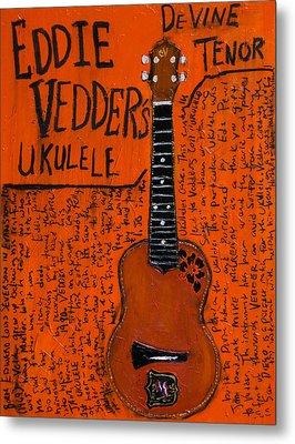 Eddie Vedder Ukulele Metal Print by Karl Haglund