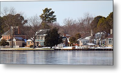 Edenton Waterfront Metal Print by Carolyn Ricks