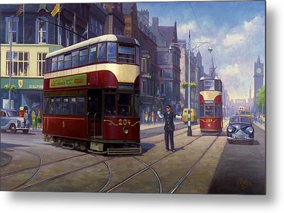 Edinburgh Tram 1953. Metal Print by Mike  Jeffries